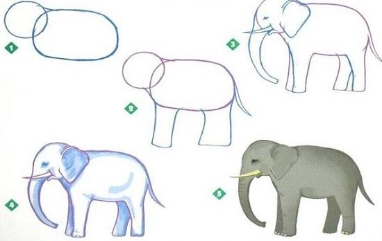 Рисовать слона и моську