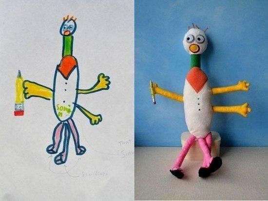 Игрушки по детским рисункам как бизнес