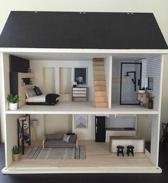 Кукольный домик двухэтажный своими руками из фанеры