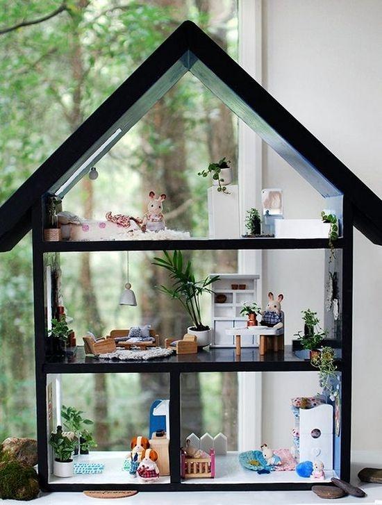 Кукольный домик для зайчика своими руками из фанеры