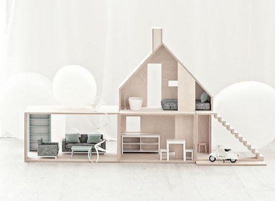 Кукольный домик с парковкой своими руками из фанеры