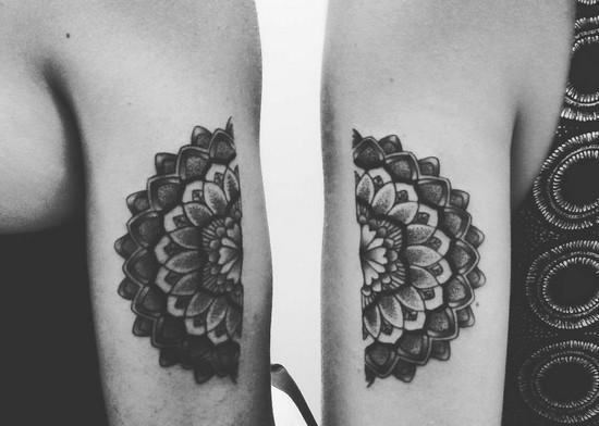 Орнамент татуировка он и она