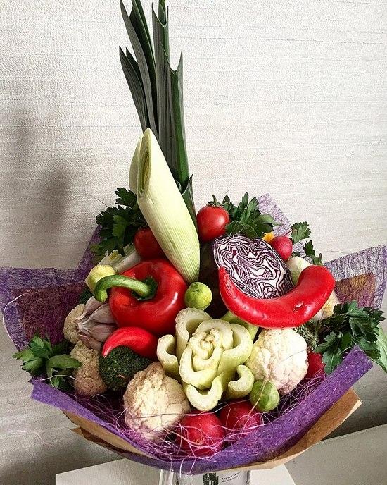 Букеты из овощей и цветов своими руками 445