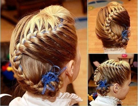 Детские причёски с плетением