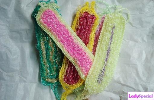 Вязание длинной мочалки крючком для начинающих