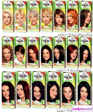 Краска для волос палет палитра цветов
