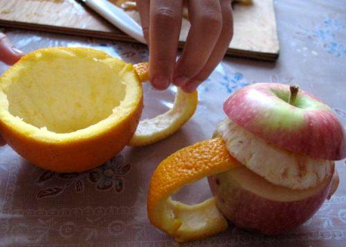 Поделки из овощей и фруктов своими