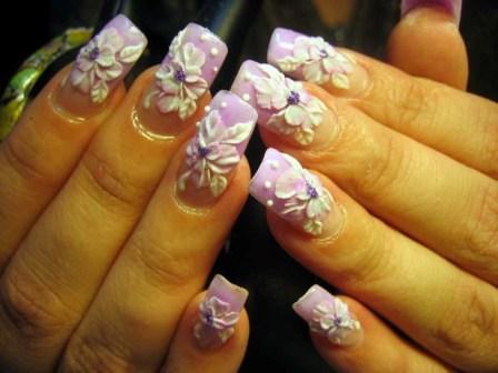 дизайн ногтей лепка фото: