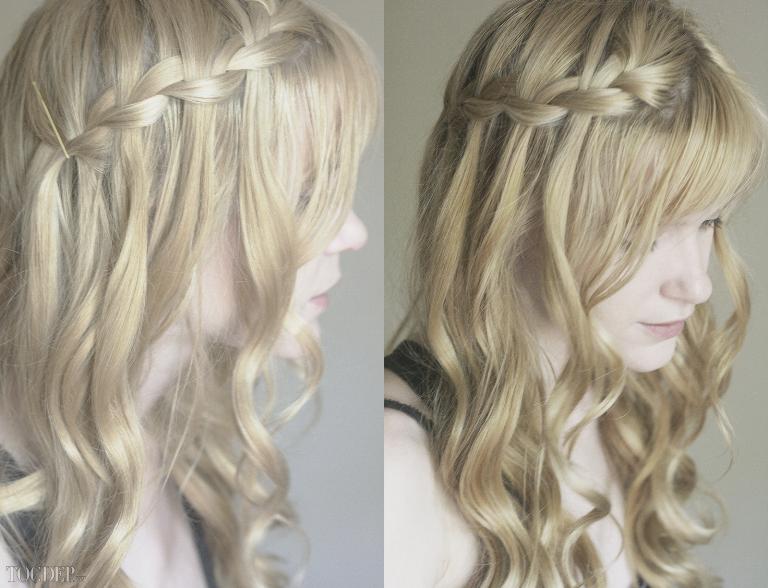 Коса водопад для длинных волос