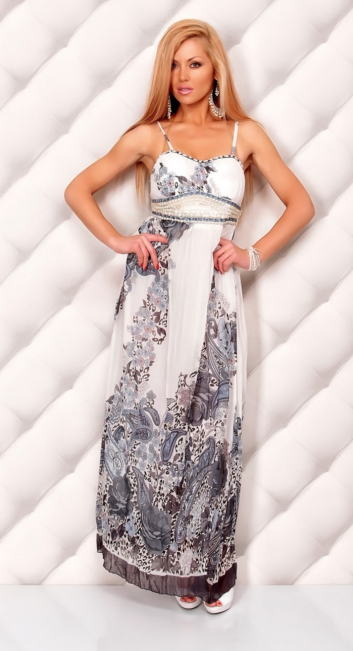 Выкройка платья с рукавами и пышной юбкой