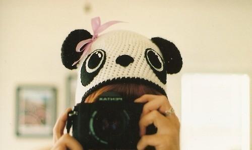 Шапка панда: схема вязания.