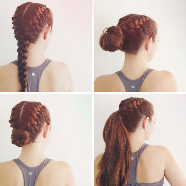 Фото спортивных причесок на длинные волосы