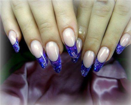 Дизайн ногтей витражными гелями фото