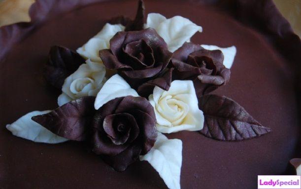 Цветы из шоколадной мастики пошагово