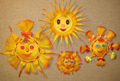 Солнышко из ниток своими руками фото