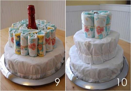 Сделать торт из подгузников