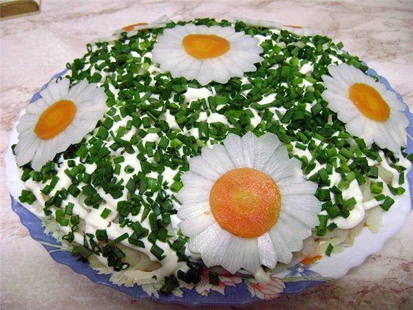 Украсить салат своими руками фото