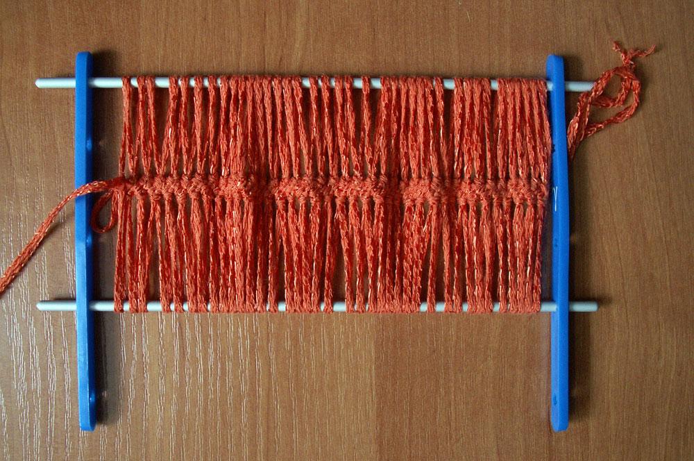 Вязание на вилке для
